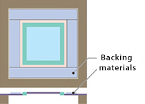Backings for supporting mesh